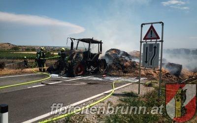 Einsatz 38, 09.07.2021 – Brandeinsatz / Traktorbrand, Flurbrand
